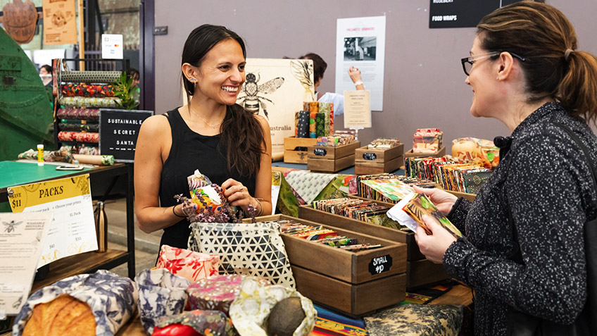 Beeswax Wraps Australia, Carriageworks Farmers Market, 2021, Carriageworks, Bees, Wax, Sustainable Living, Sustainable Eating, Culture