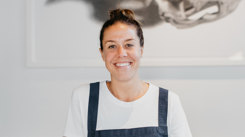 Jacqui Challinor, Nomad, Carriageworks Farmers Market, Chef, Demo, Cook, Presentation