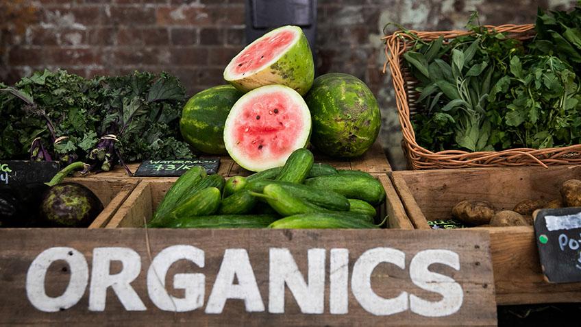 Carriageworks Farmers Market, Fresh seasonal produce, nectarine, watermelon, cucumber