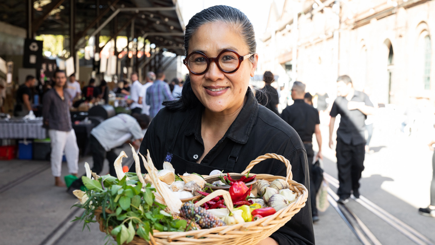 Kylie Kwong, Carriageworks Christmas Market, Carriageworks Farmers Market