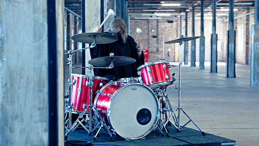 Tina Havelock Stevens, Thank You For Holding, Art, Contemporary Art, Drumming, Drums, Drum, Musician, Music, 2021, Sydney Festival
